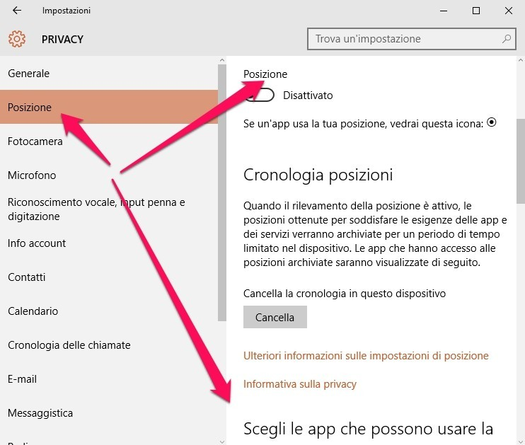 privacy windows 10 sicurezza