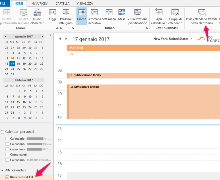 Condividere Calendario Outlook Senza Exchange.Come Condividere Il Calendario Di Outlook Ithesia Sistemi