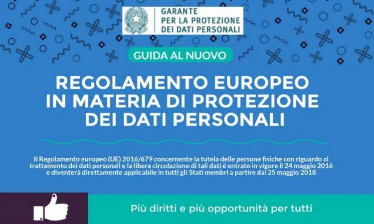 legge sulla privacy - nuovo regolamento europeo della privacy