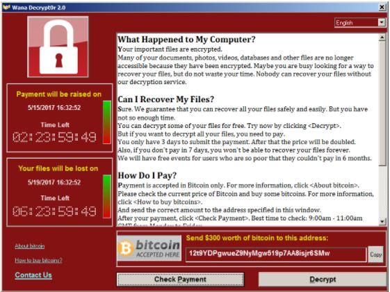 wannacry - attacco del ransomware